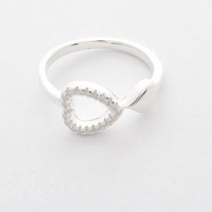 Yumilok Anillo de plata de ley 925 para mujer circonita incrustada tama/ño ajustable anillo abierto con s/ímbolo de infinito regalo de cumplea/ños de Navidad tama/ño: 49-57